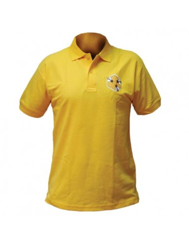 Koszulka polo z haftem (żółta) – męska