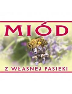 Etykieta ozdobna - miód prosto z ula -100szt