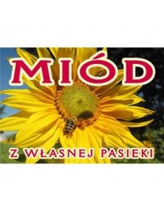 """Banderola """"miód z polskiej pasieki"""" – 100 szt."""