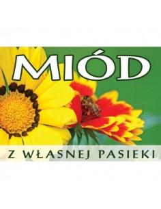 Banderola samoprzylepna na pyłek pszczeli – 41x181mm 100 szt.