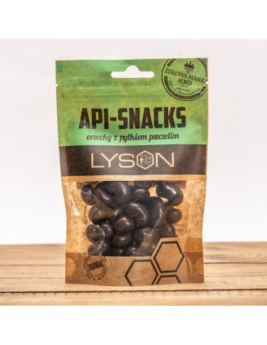 Api Snacks - orzechy nerkowca w ciemnej czekoladzie z pyłkiem, 100 g