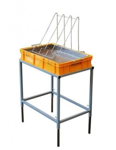 Stół do odsklepiania z wanienką plastikową i sitem nierdzewnym – wys. 100mm
